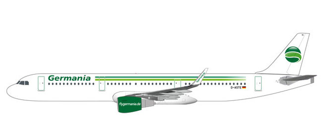 Germania - Airbus A321 (Herpa Snap-Fit 1:200)