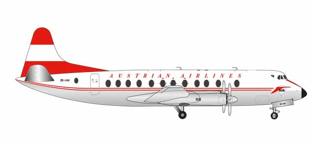 Austrian Airlines - Vickers Viscount 800 (Herpa Wings 1:200)
