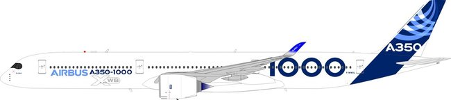 Airbus House Colours - Airbus A350-1000 (Inflight200 1:200)