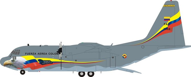Colombia Air Force - Lockheed C-130H Hercules (L-382) (Inflight200 1:200)