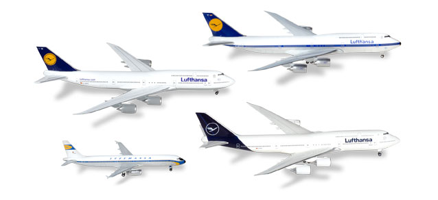 Lufthansa - 4-in-1 Set (Herpa Wings 1:500)