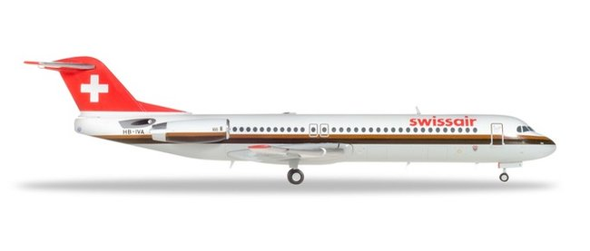 Swissair - Fokker 100 (Herpa Wings 1:200)