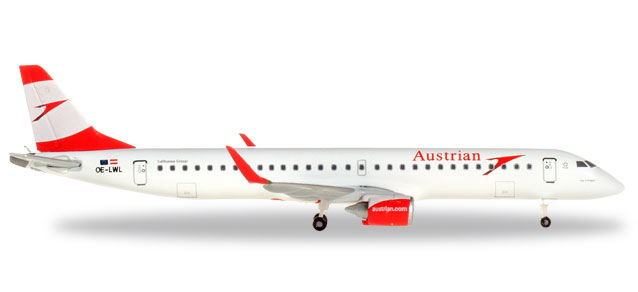 Austrian Airlines - Embraer E195 (Herpa Wings 1:500)