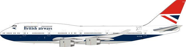 British Airways - Boeing 747-400 (Lupa 1:200)