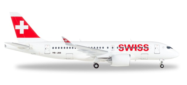SWISS International Airlines - Airbus A220-100 (Herpa Wings 1:200)