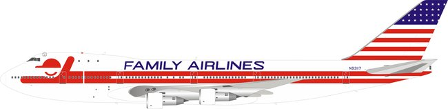 Family Airlines - Boeing 747-100 (Inflight200 1:200)