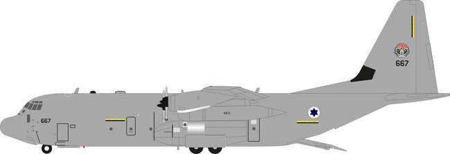 Israeli Air Force - Lockheed Martin C-130J-30 Hercules (L-382) (Compass Models 1:200)
