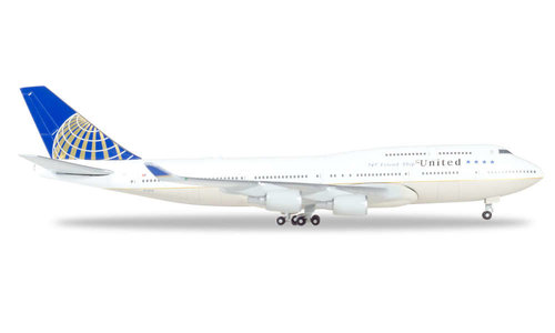 United Airlines - Boeing 747-400 (Herpa Wings 1:500)