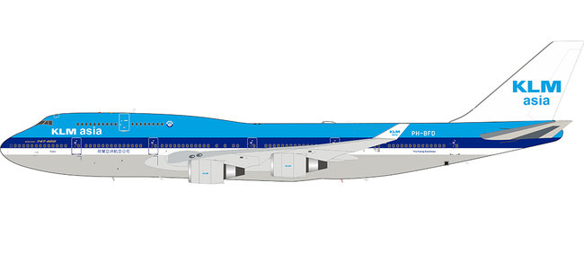 KLM Asia - Boeing 747-406M (Inflight200 1:200)