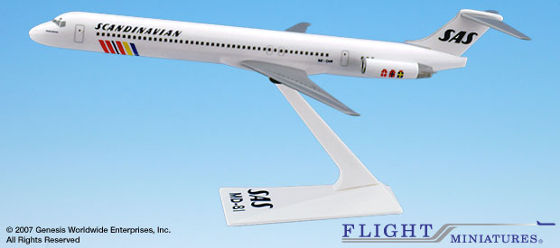 SAS Scandinavian - McDonnell Douglas MD-81 (Flight Miniatures 1:200)