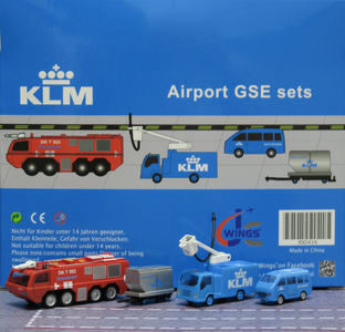 KLM - Airport GSE set 6 (JC Wings 1:200)