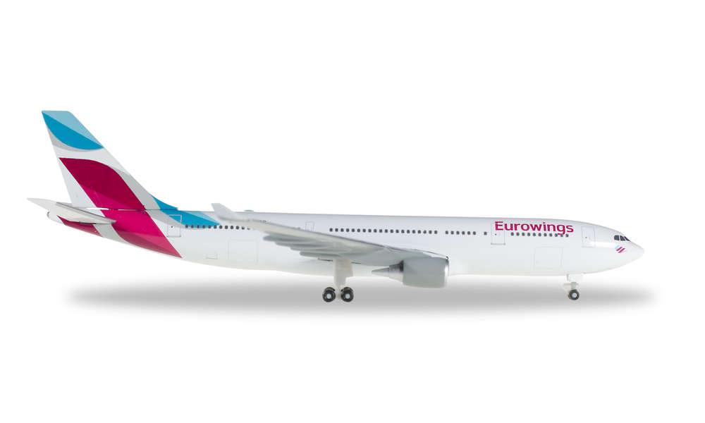 Eurowings 1//500 Airbus A330-200 Herpa 528153-001 Neu