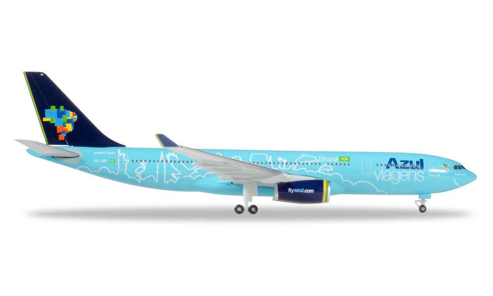 """Herpa Wings Airbus a330-200 azul Brasil /""""AZUL Viagens/"""" 530927-1:500"""