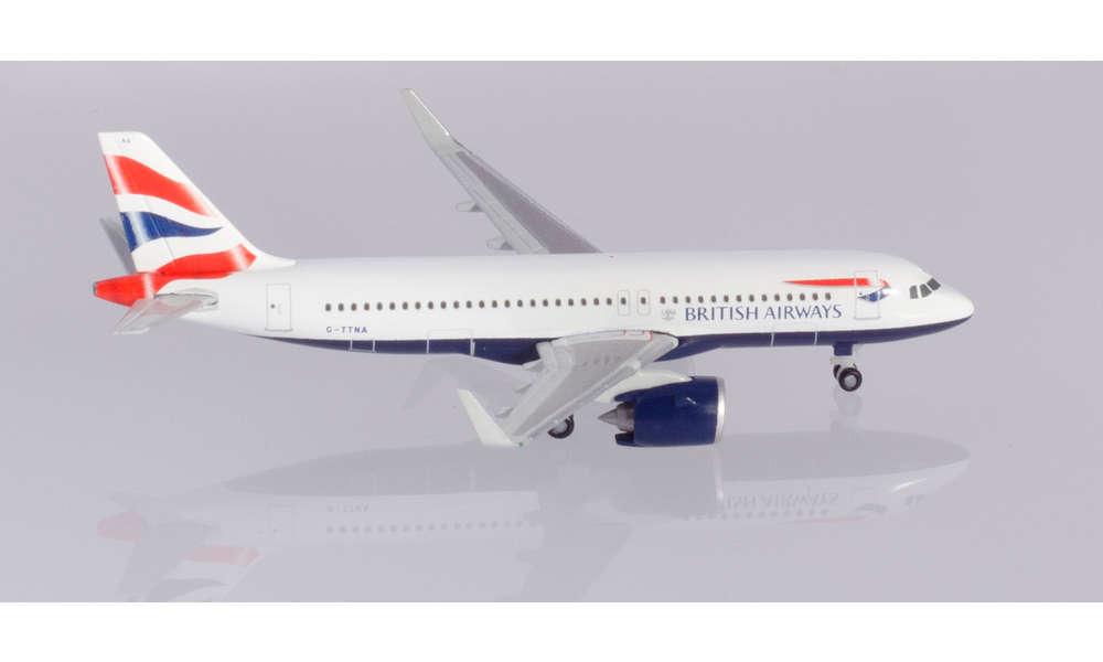 Herpa 532808  British Airways Airbus A320 neo 1:500