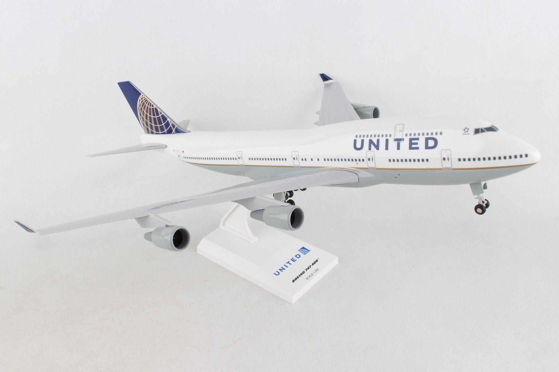 Skymarks United Airlines Post Co Merger Boeing 747-400 1:200 SKR614