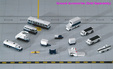 - 14 Piece Ground Accessories Set (GeminiJets 1:400)